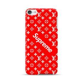 ルイ・ヴィトン&シュプリーム赤バージョン) iPod Touch 6 ポリカーボネート ハードケース