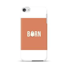 デザイン アルファベット:born (誕生) iPod Touch 6 ポリカーボネート ハードケース