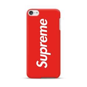 ニューヨークより赤のシュプリーム(super me) iPod Touch 6 ポリカーボネート ハードケース