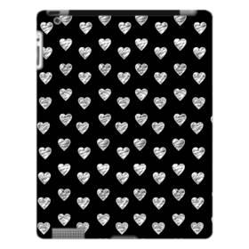 ハートのパターン iPad 4/3/2 ポリカーボネート ハードケース