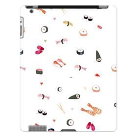 お寿司 the SUSHI  エビ寿司 のり巻き  ホワイト ハート iPad 4/3/2 ポリカーボネート ハードケース