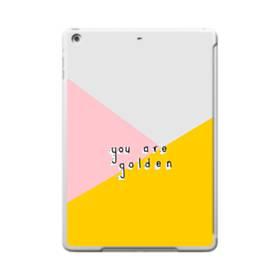 デザイン・アルファベット:You are golden. iPad 9.7 (2017) ポリカーボネート ハードケース