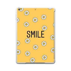 キュートな花のモチーフ&デザイン アルファベット スマイル iPad 9.7 (2017) ポリカーボネート ハードケース