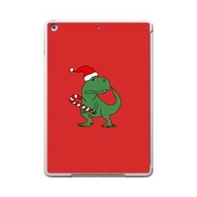 クリスマス 可愛い恐竜さん iPad 9.7 (2017) ポリカーボネート ハードケース