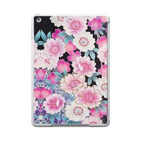 和の花柄 iPad 9.7 (2017) TPU クリアケース