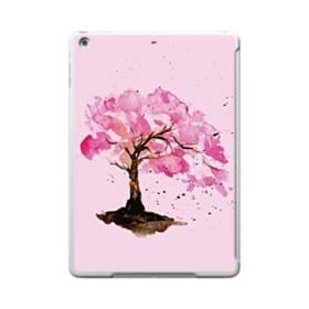水彩画・桜の木 iPad 9.7 (2017) TPU クリアケース