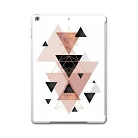ピンク ブラック ジオメトリック 幾何図 三角 ライン iPad 9.7 (2017) TPU クリアケース