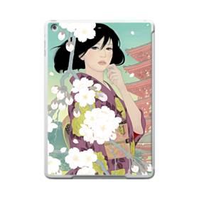 ザ・桜&ジャパンガール! iPad 9.7 (2017) TPU クリアケース