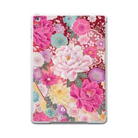 和の花柄:牡丹 iPad 9.7 (2017) TPU クリアケース