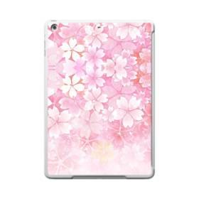 爛漫・ピンク&桜色 iPad 9.7 (2017) TPU クリアケース