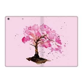 水彩画・桜の木 iPad 9.7 (2017) 合皮 手帳型ケース