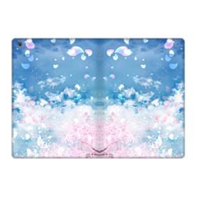 桜の花びら iPad 9.7 (2017) 合皮 手帳型ケース
