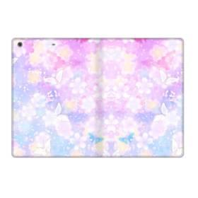 爛漫・抽象的な桜の花 iPad 9.7 (2017) 合皮 手帳型ケース