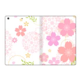 桜の形・いろいろ iPad 9.7 (2017) 合皮 手帳型ケース