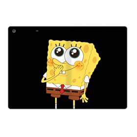 可愛いスポンジボブ iPad 9.7 (2017) 合皮 手帳型ケース