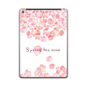 桜&デザイン英文 iPad 9.7 (2018) ポリカーボネート ハードケース
