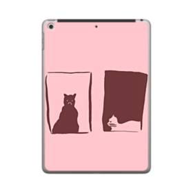デザイン 窓&猫 iPad 9.7 (2018) ポリカーボネート ハードケース