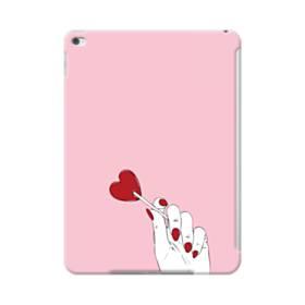 指とハート iPad Air 2 ポリカーボネート ハードケース