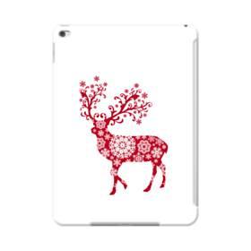 クリスマス デザイン トナカイ&スノー iPad Air 2 ポリカーボネート ハードケース