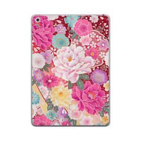和の花柄:牡丹 iPad mini (2019) TPU クリアケース