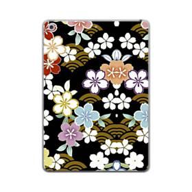 和風・桜&浪 iPad mini (2019) TPU クリアケース