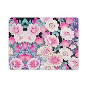 和の花柄 iPad mini (2019) 合皮 手帳型ケース