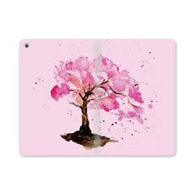 水彩画・桜の木 iPad mini (2019) 合皮 手帳型ケース