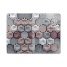 つぶつぶ六角形 iPad mini (2019) 合皮 手帳型ケース