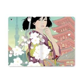 ザ・桜&ジャパンガール! iPad mini (2019) 合皮 手帳型ケース