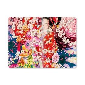 和・花魁&桜 iPad mini (2019) 合皮 手帳型ケース