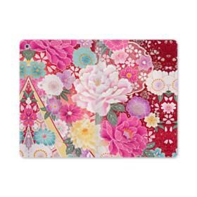 和の花柄:牡丹 iPad mini (2019) 合皮 手帳型ケース