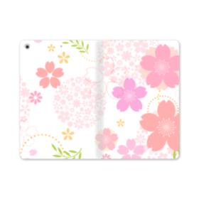 桜の形・いろいろ iPad mini (2019) 合皮 手帳型ケース