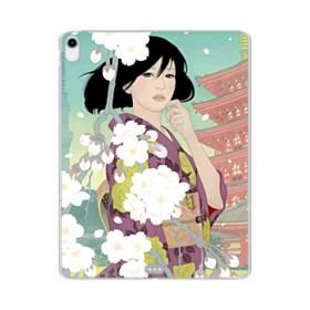 ザ・桜&ジャパンガール! iPad Pro 11.0 (2018) TPU クリアケース