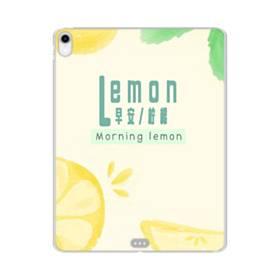デザイン・漢字&アルファベット:レモン、おはよう。 iPad Pro 11.0 (2018) TPU クリアケース