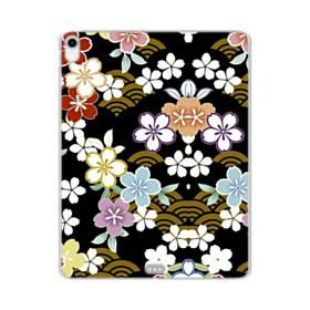 和風・桜&浪 iPad Pro 11.0 (2018) TPU クリアケース