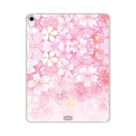 爛漫・ピンク&桜色 iPad Pro 11.0 (2018) TPU クリアケース