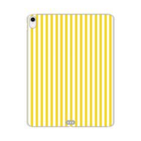 しましま イエロー iPad Pro 12.9 (2018) TPU クリアケース