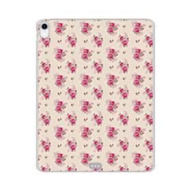 薄い紫を背景にした花束・パターン iPad Pro 12.9 (2018) TPU クリアケース