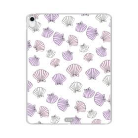 アジサイ色の貝殻のモチーフ iPad Pro 12.9 (2018) TPU クリアケース