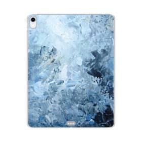 イケメン模様・水色のアート iPad Pro 12.9 (2018) TPU クリアケース