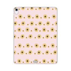 花 モチーフ flower motif iPad Pro 12.9 (2018) TPU クリアケース