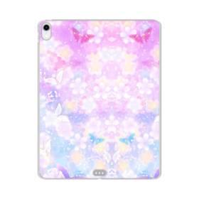 爛漫・抽象的な桜の花 iPad Pro 12.9 (2018) TPU クリアケース