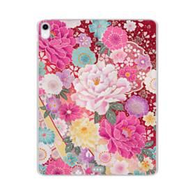 和の花柄:牡丹 iPad Pro 12.9 (2018) TPU クリアケース