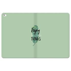 デザイン アルファベット011 enjoy the little things iPad Pro 12.9 (2015) 合皮 手帳型ケース