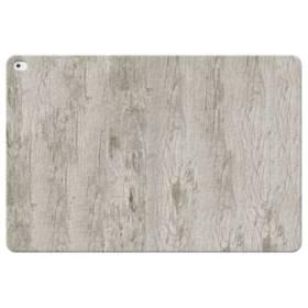シンプルな北欧風 ホワイト木目 iPad Pro 12.9 (2015) 合皮 手帳型ケース