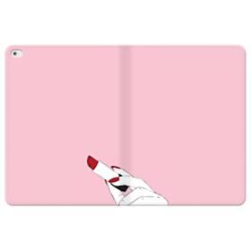 女の子の口紅と赤い爪 iPad Pro 12.9 (2015) 合皮 手帳型ケース