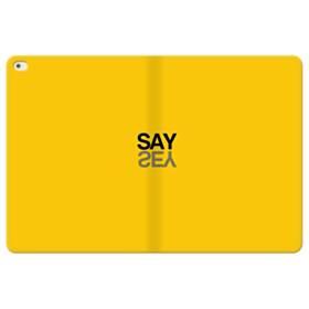 デザイン アルファベット:say iPad Pro 12.9 (2015) 合皮 手帳型ケース