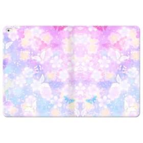 爛漫・抽象的な桜の花 iPad Pro 12.9 (2015) 合皮 手帳型ケース