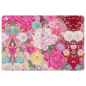 和の花柄:牡丹 iPad Pro 12.9 (2015) 合皮 手帳型ケース