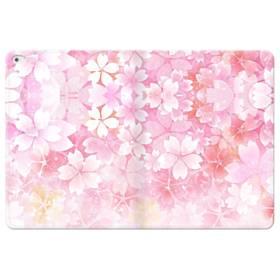 爛漫・ピンク&桜色 iPad Pro 12.9 (2015) 合皮 手帳型ケース